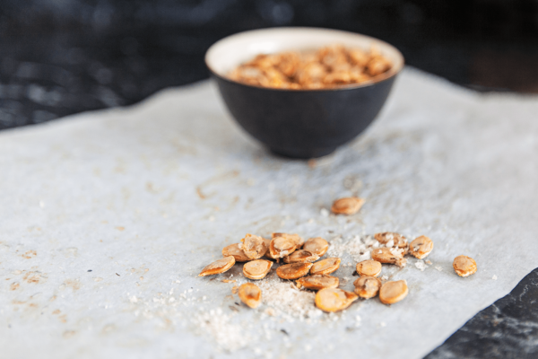 pumpkin seeds roasted with fennel and ginger sea salt