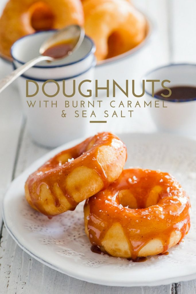 doughnuts with burnt caramel and sea salt