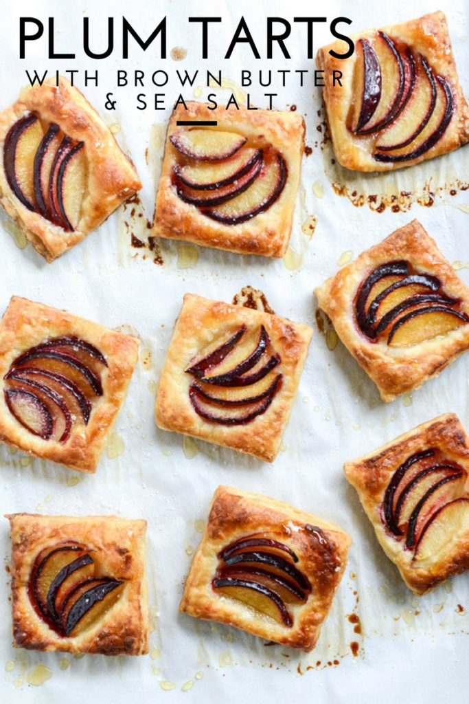 plum tarts with brown butter & sea salt