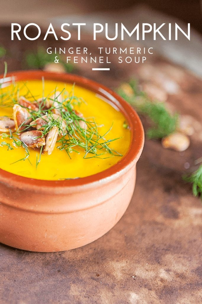 pumpkin soup with ginger turmeric & fennel