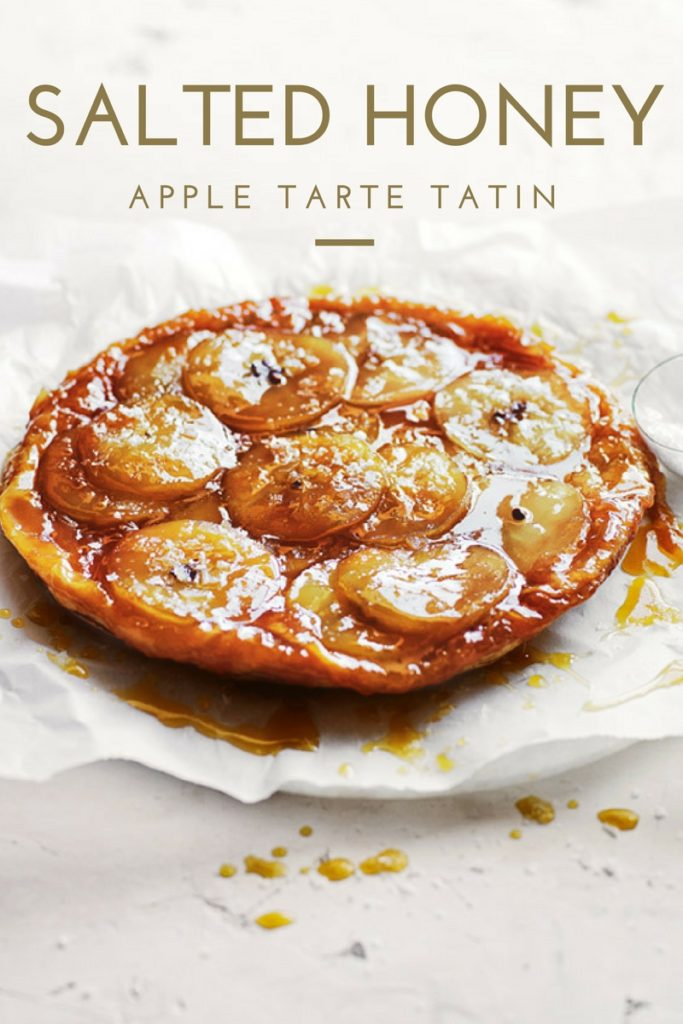salted honey and apple tarte tatin