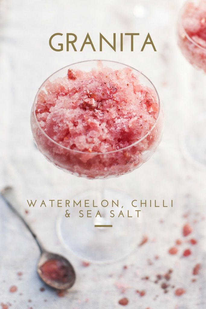 watermelon chilli salt granita