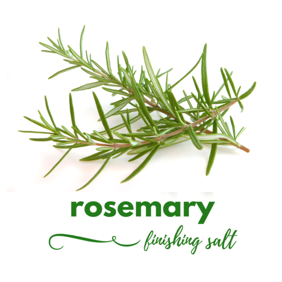 rosemary finishing salt